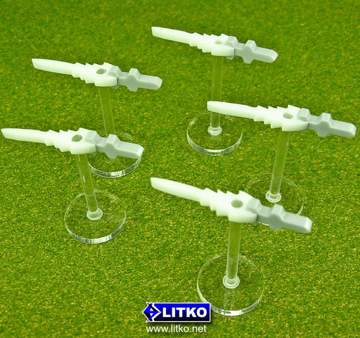 Elevated Missile Stands, White (5) - LITKO Game Accessories