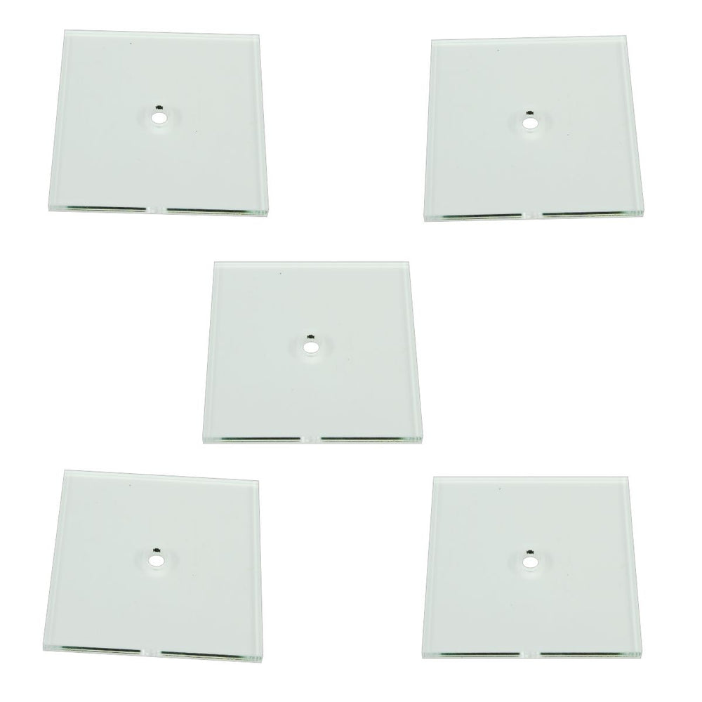 Heavy Duty Flight Bases, Square, 50mm, 3mm Clear (5) - LITKO Game Accessories