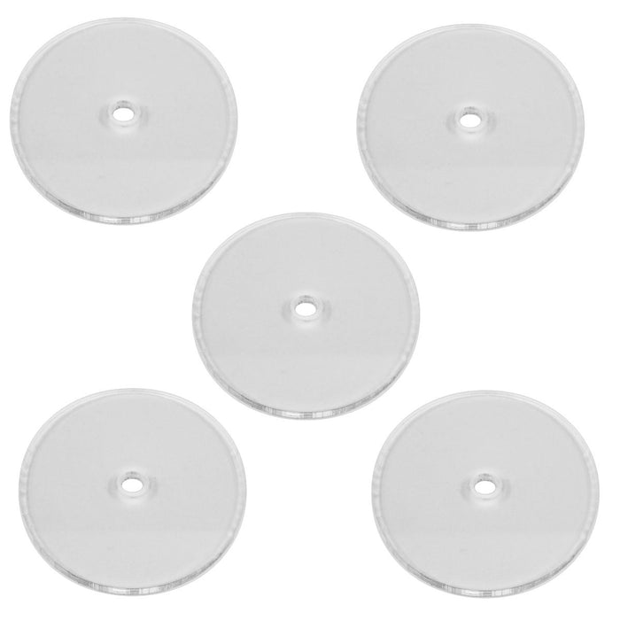 Heavy Duty Flight Bases, Circular, 50mm, 3mm Clear (5) - LITKO Game Accessories
