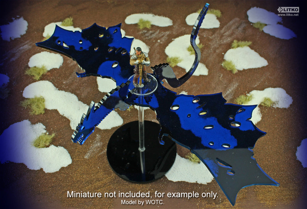 Flying Ice Dragon Character Mount Kit with 3-inch Circle Base - LITKO Game Accessories