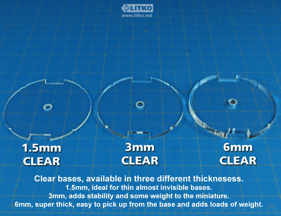70mm Circular HD Flight Stand Kit Compatible with SW: Legion, 1.5mm Clear - LITKO Game Accessories