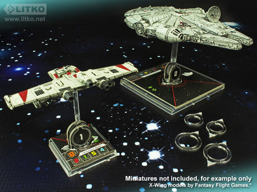 LITKO Space Fighter 2nd Edition Turret Pointer Set, 1.5mm Clear (8) - LITKO Game Accessories