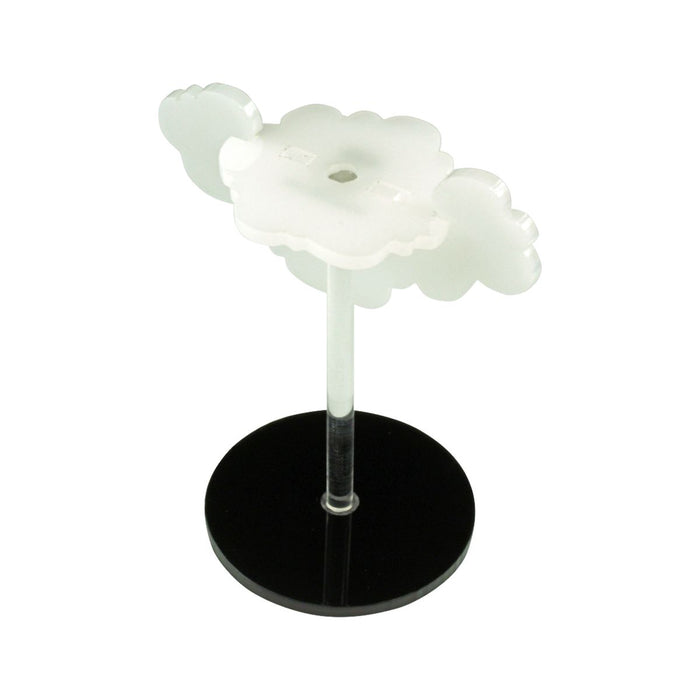 LITKO Flying Cloud Character Mount with 2-inch Circle Base, Translucent White - LITKO Game Accessories
