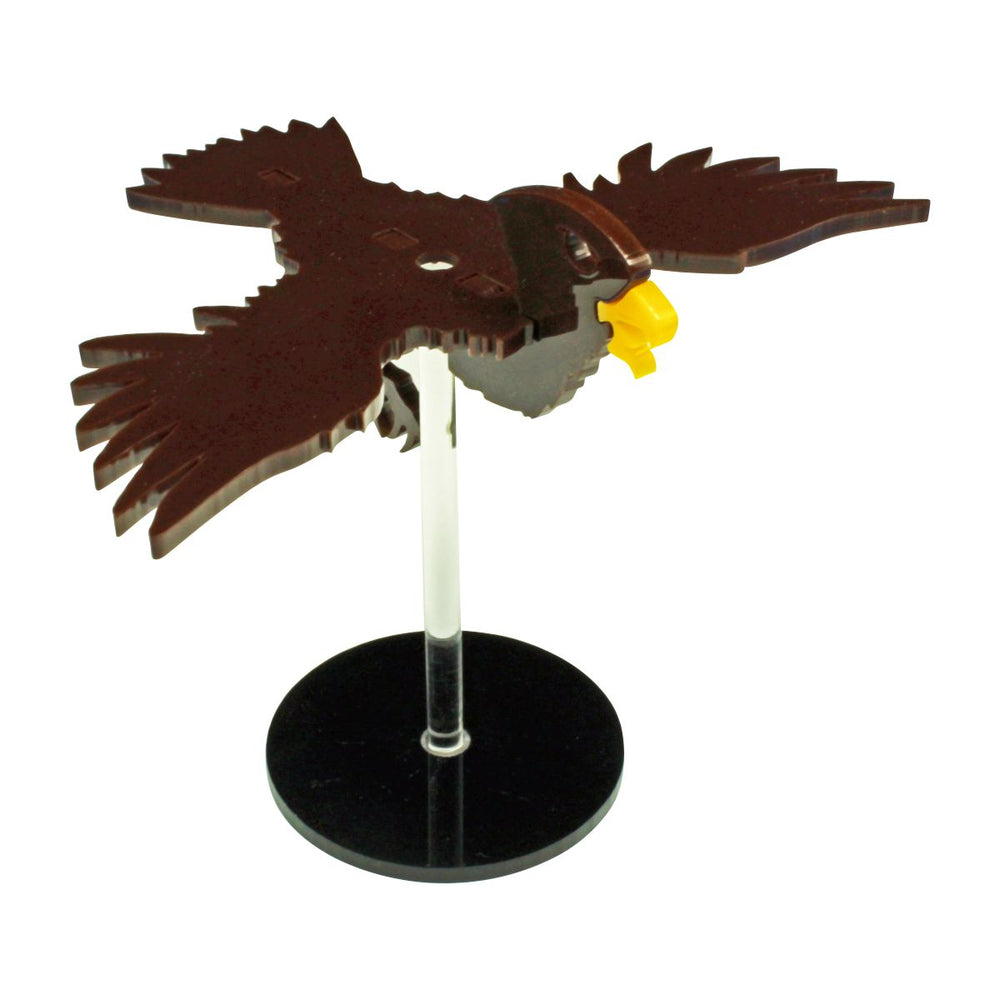 LITKO Flying Hawk Character Mount Kit with 2 inch Circle Base, Brown - LITKO Game Accessories