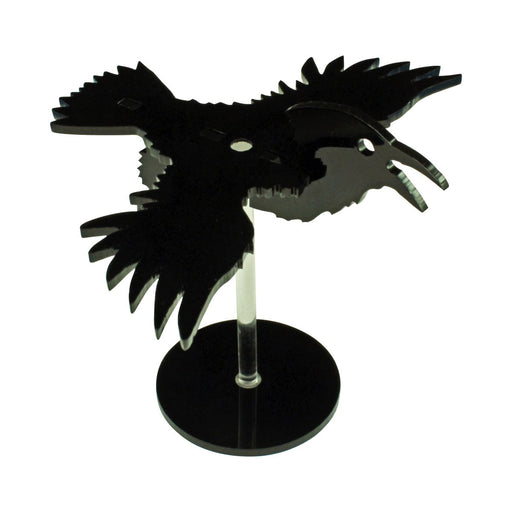 LITKO Flying Raven Character Mount Kit with 2 inch Circle Base, Black - LITKO Game Accessories