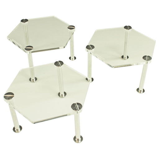LITKO Deluxe Fleet Movement Stands, Clear (3) - LITKO Game Accessories