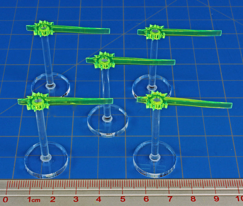 LITKO Laser Beam Stands, Fluorescent Green (5) - LITKO Game Accessories