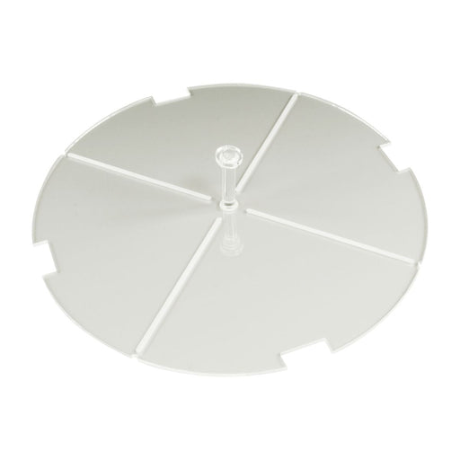 150mm Circular Notched Tank HD Flight Stand Compatible with SW: Legion, 1.5mm Clear - LITKO Game Accessories
