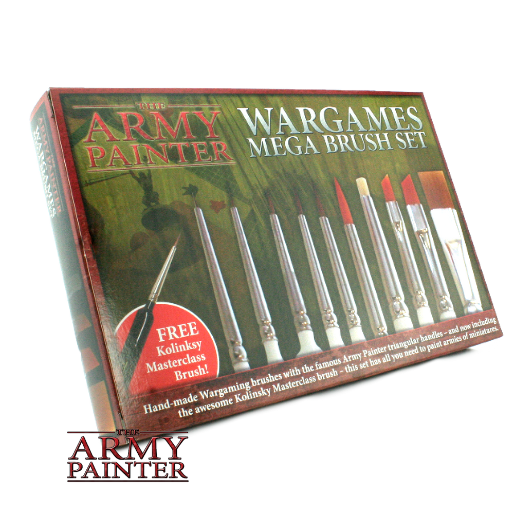 Army Painter, Mega Brush Set - LITKO Game Accessories