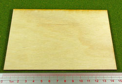 LITKO Rectangular Miniature Bases: 100x150mm Monster Base, 3mm Plywood (1) - LITKO Game Accessories