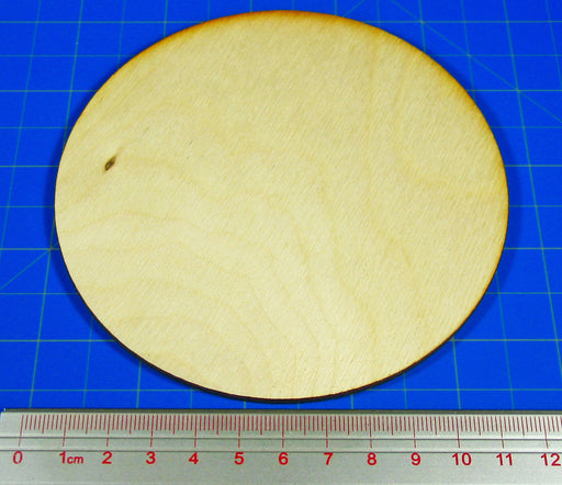 Miniature Bases, Circular, 120mm, 3mm Plywood (1) - LITKO Game Accessories