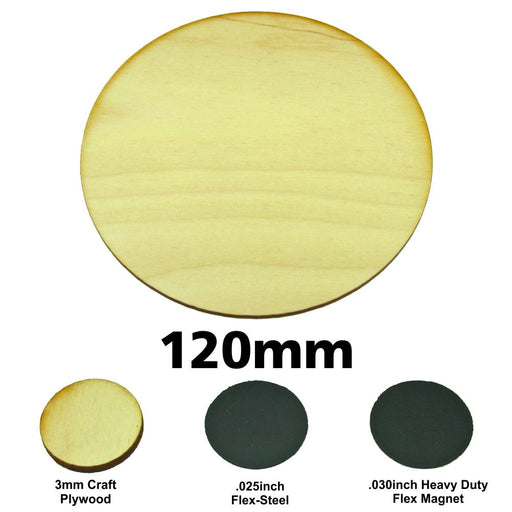 LITKO Miniature Bases, Circular, 120mm, 3mm Plywood (1) - LITKO Game Accessories