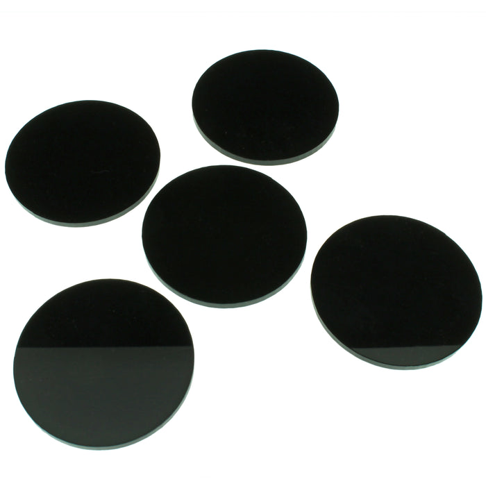 RPG Bases, 2-Inch Circular, LARGE Figure Size (5) - LITKO Game Accessories