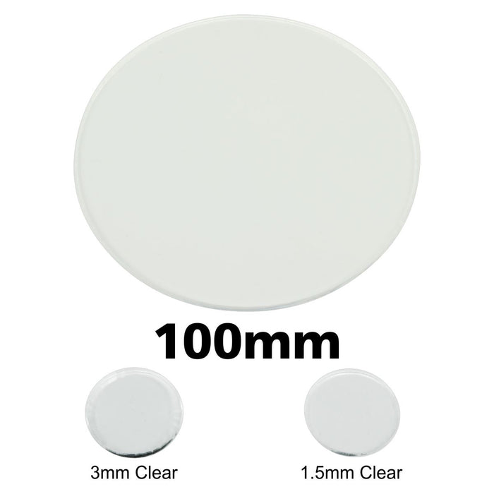 Miniature Base, Circular, 100mm, 1.5mm Clear (1) - LITKO Game Accessories