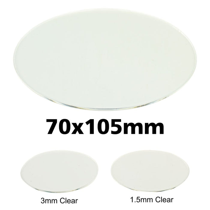 Miniature Base, Oval, 70x105mm, 1.5mm Clear (1) - LITKO Game Accessories