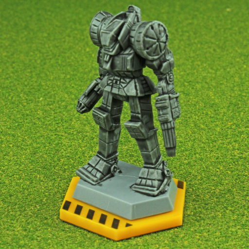 BTECH, 32mm Hexagon Mecha Bases, Gold (5) - LITKO Game Accessories