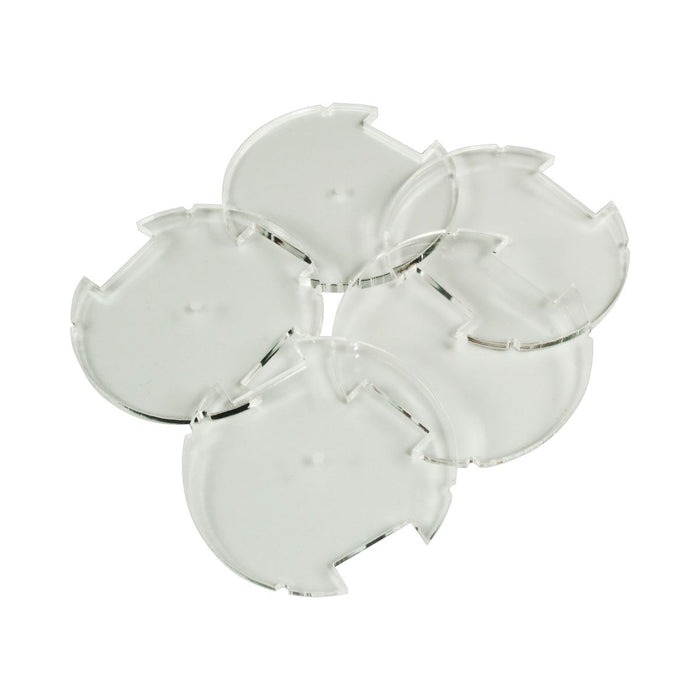 50mm Circular Notched Bases Compatible with SW: Legion, 3mm Clear (5) - LITKO Game Accessories