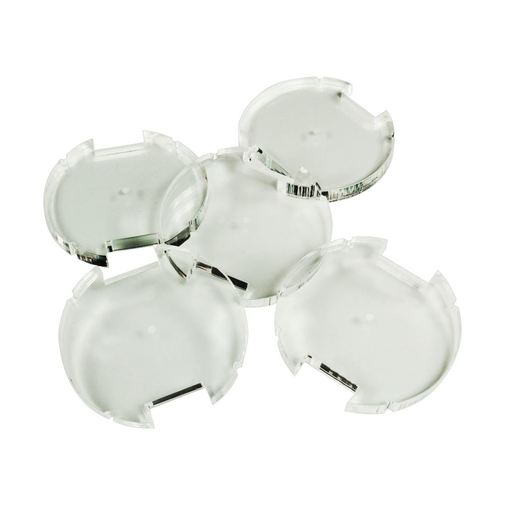 50mm Circular Notched Bases Compatible with SW: Legion, 6mm Clear (5) - LITKO Game Accessories