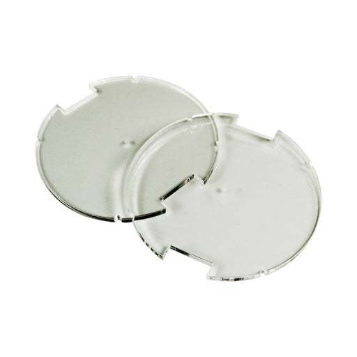 70mm Circular Notched Bases Compatible with SW: Legion, 3mm Clear (2) - LITKO Game Accessories
