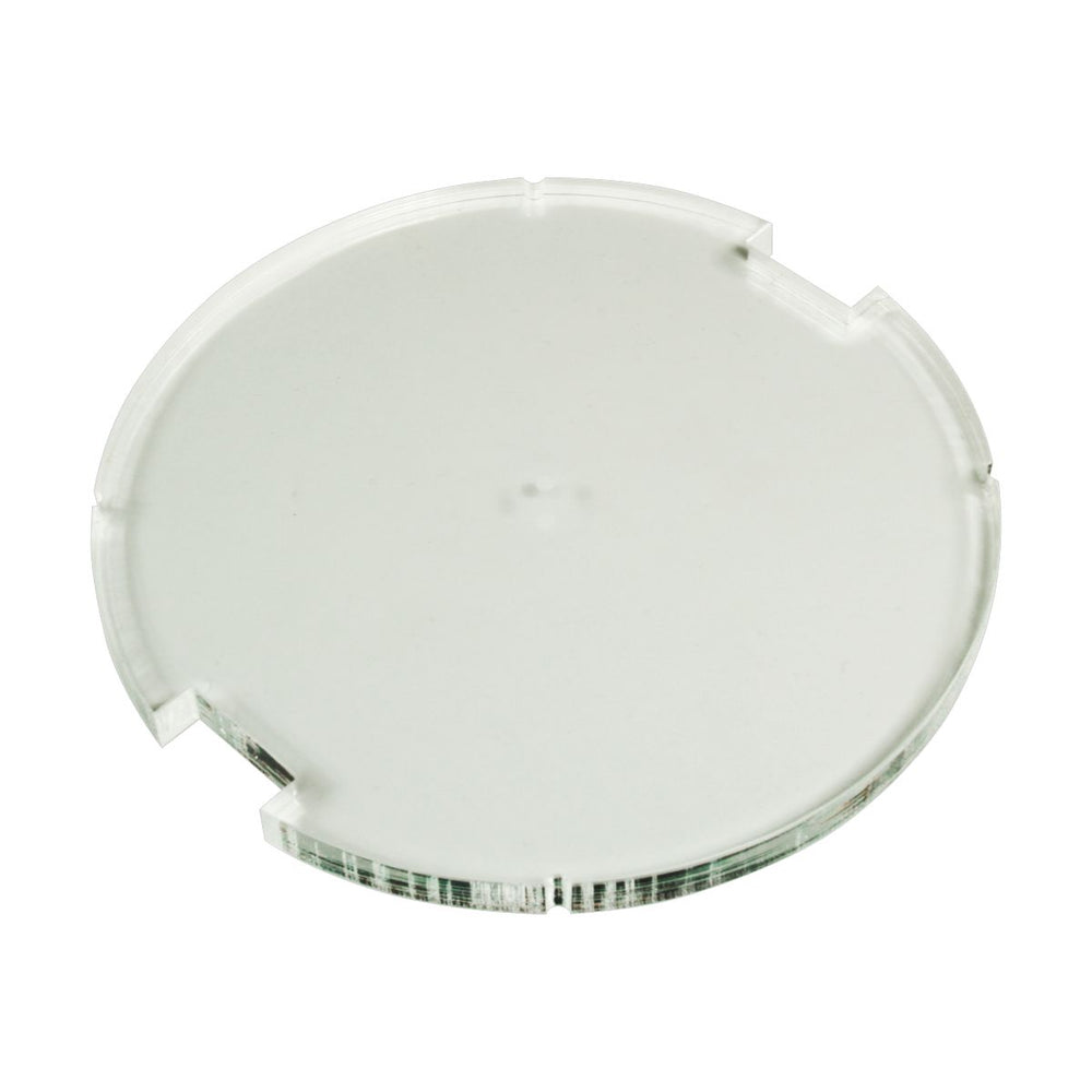 100mm Circular Notched Bases Compatible with SW: Legion, 6mm Clear - LITKO Game Accessories