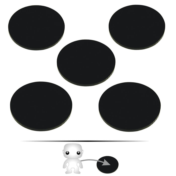 LITKO Pop Culture Figure Stands, 2-inch Circle, Black (5) - LITKO Game Accessories