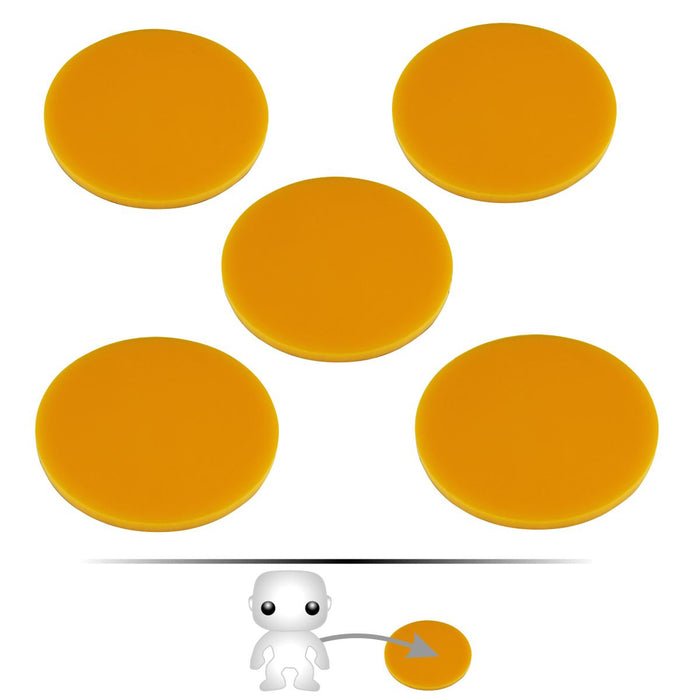LITKO Pop Culture Figure Stands, 2-inch Circle, Gold (5) - LITKO Game Accessories
