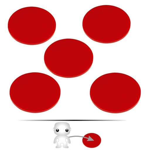 LITKO Pop Culture Figure Stands, 2-inch Circle, Red (5) - LITKO Game Accessories