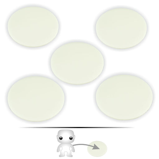 LITKO Pop Culture Figure Stands, 2-inch Circle, White (5) - LITKO Game Accessories