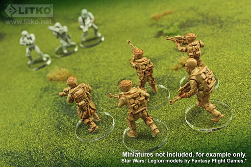 LITKO SW: Legion, 27mm Circular Bases, 3mm Clear (25) - LITKO Game Accessories