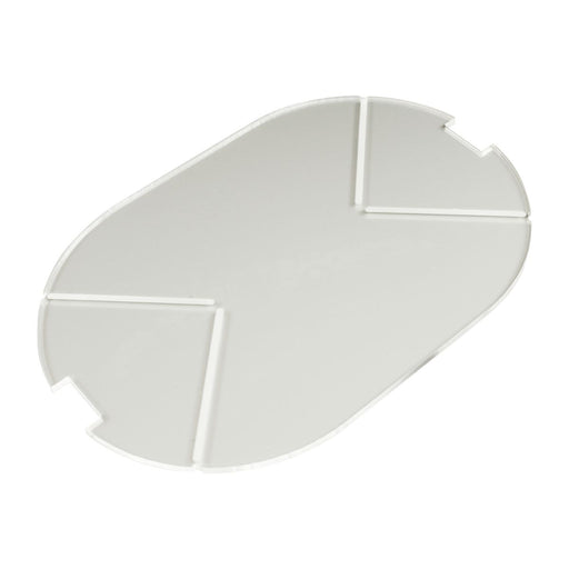 LITKO 100x150mm Notched Pill Tank Base Compatible with SW: Legion, 3mm Clear - LITKO Game Accessories