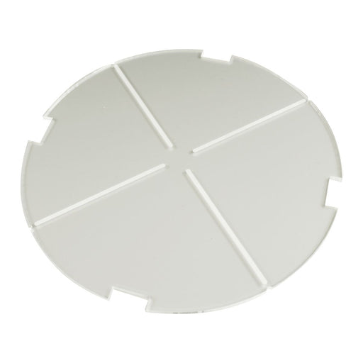 LITKO 150mm Circular Notched Tank Base Compatible with SW: Legion, 3mm Clear - LITKO Game Accessories
