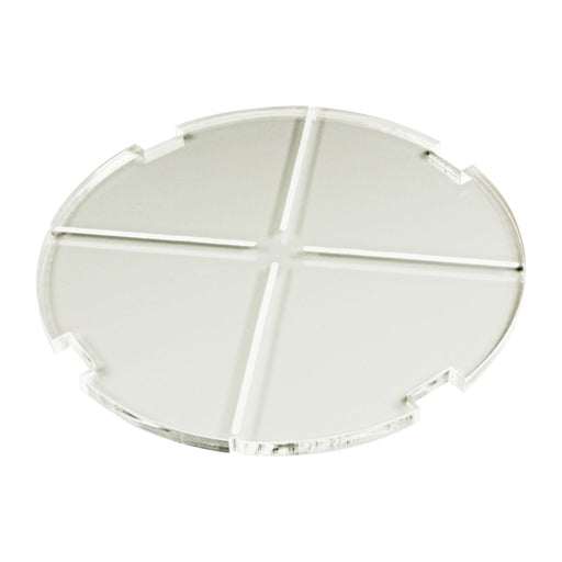 LITKO 150mm Circular Notched Tank Base Compatible with SW: Legion, 6mm Clear - LITKO Game Accessories