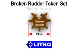 LITKO Broken Rudder Tokens, Brown (10) - LITKO Game Accessories