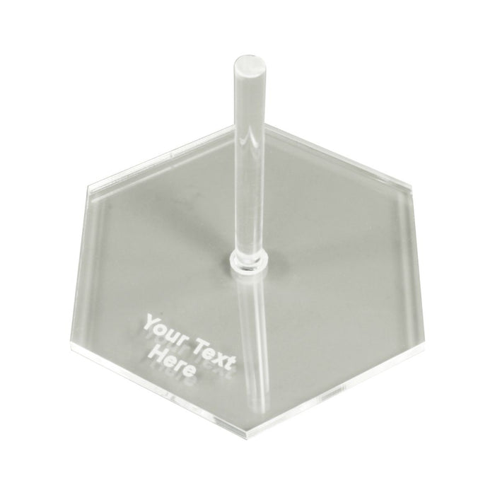 Personalized Flight Base, 2.5 Inch Hex with 2 Inch Heavy Duty Peg - LITKO Game Accessories