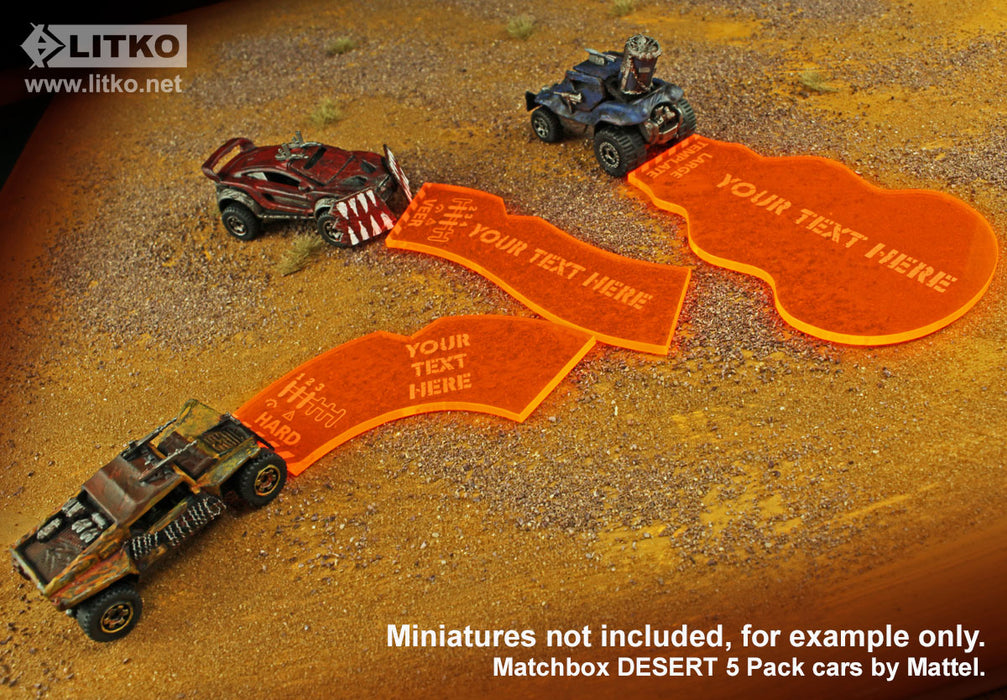 Personalized Gaslands Miniatures Game Template Set (12) - LITKO Game Accessories