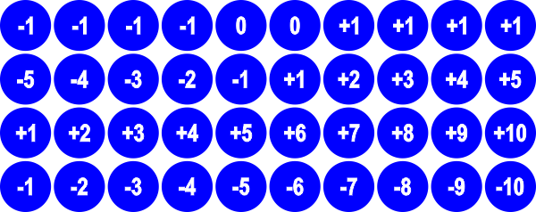 Basic Shapes Number Sequence - Personalized Game Tokens  (10) - LITKO Game Accessories