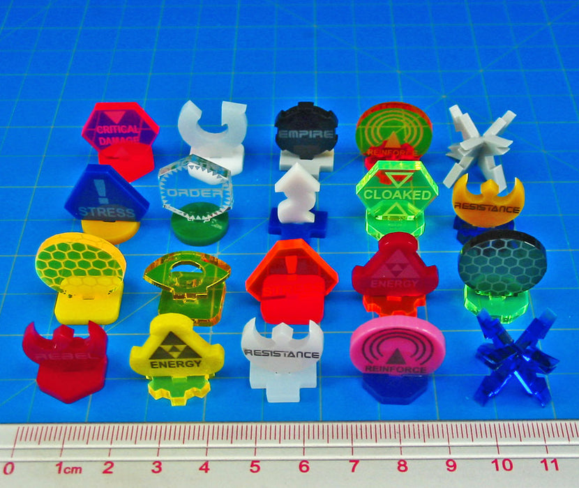 Space Fighter Custom Marker Maker (10) - LITKO Game Accessories