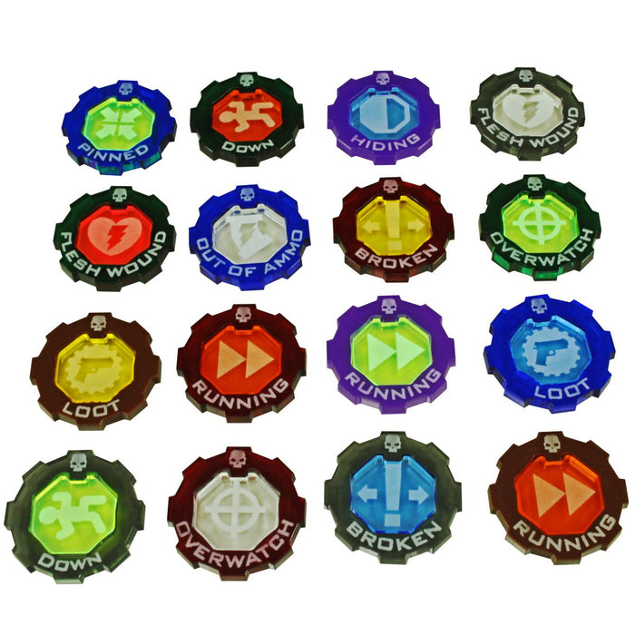 Armageddon 2-Tone Custom Color Tokens (5) - LITKO Game Accessories