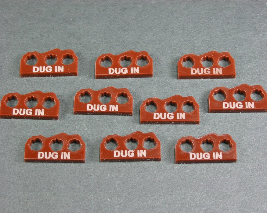 Dug-In Tokens, Brown (10) - LITKO Game Accessories