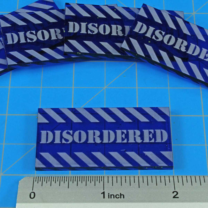 Large Sized Disordered Tokens, Translucent Blue (5) - LITKO Game Accessories