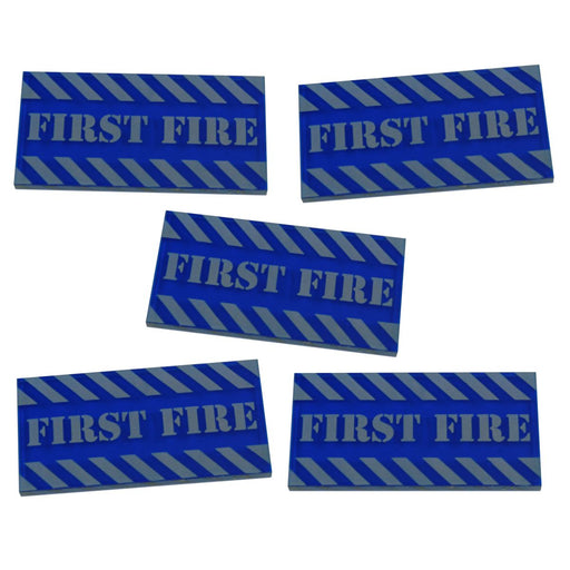Large Sized First Fire Tokens, Translucent Blue (5) - LITKO Game Accessories