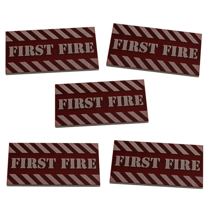 Large Size, First Fire Tokens, Translucent Red (5) - LITKO Game Accessories