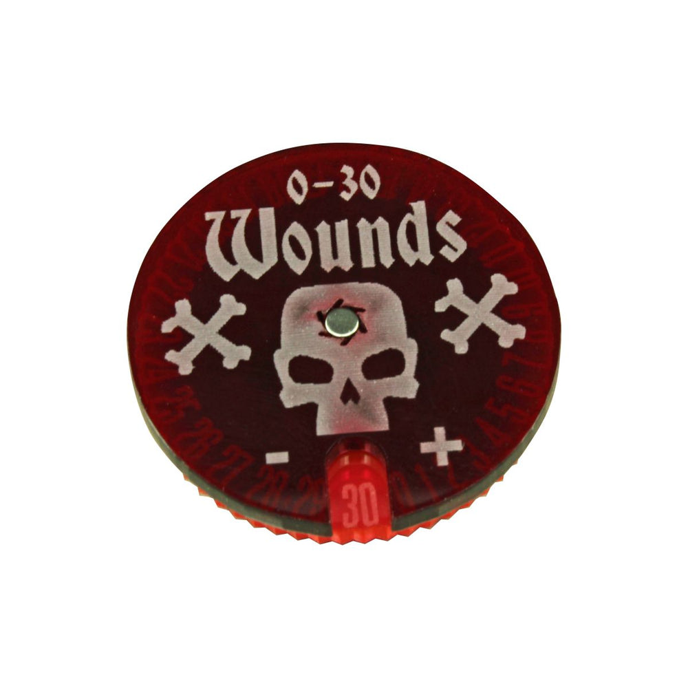 Wound Dial, #0-30 Fluorescent Pink & Translucent Red - LITKO Game Accessories