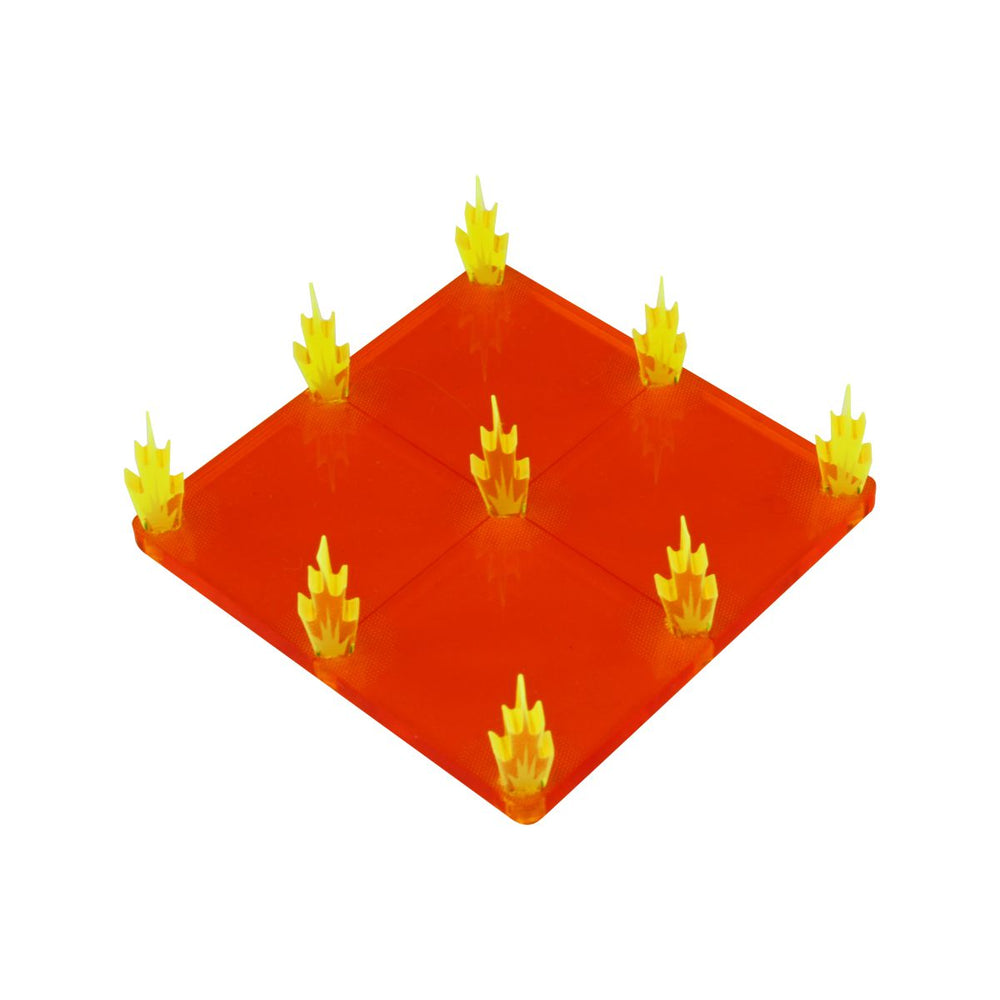 Flaming Floor Trap, Fluorescent Amber & Fluorescent Yellow - LITKO Game Accessories