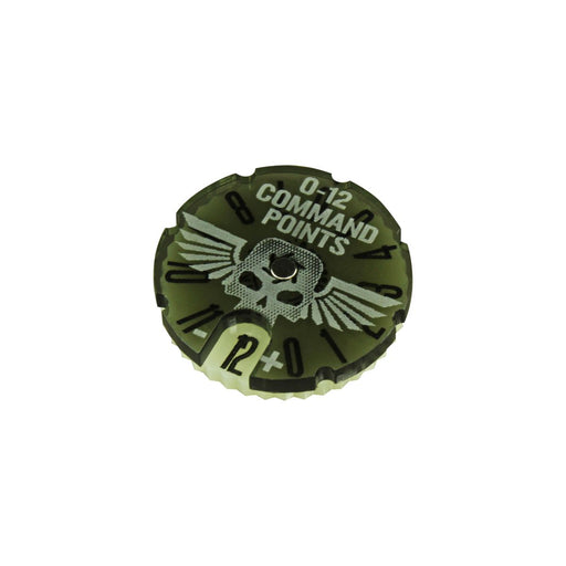 LITKO Command Point Dial #0-12 Compatible with WH:KT, Translucent Grey & Ivory - LITKO Game Accessories