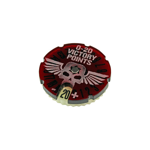 LITKO Victory Point Dial #0-20 compatible with WHv8, Translucent Red & Ivory - LITKO Game Accessories