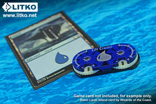 LITKO Life Tracker Dial Compatible with MtG, Translucent Blue - LITKO Game Accessories