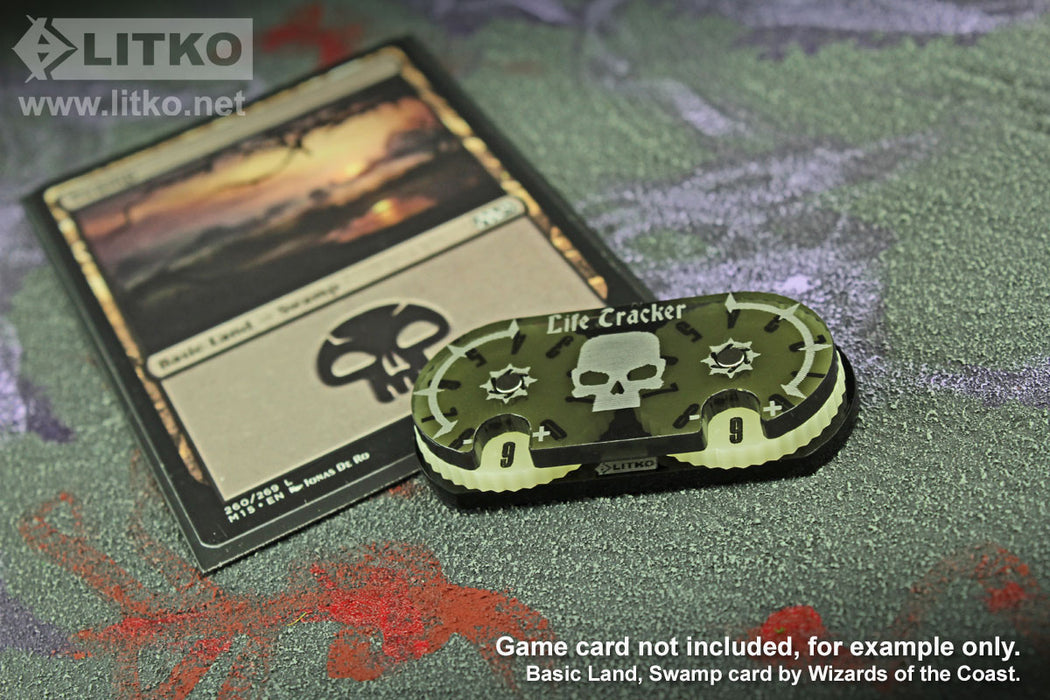 LITKO Life Tracker Dial Compatible with MtG, Translucent Grey - LITKO Game Accessories