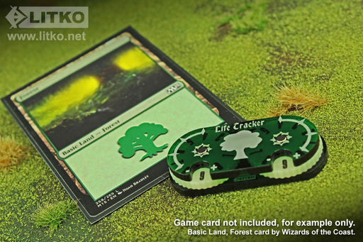 LITKO Life Tracker Dial Compatible with MtG, Translucent Green - LITKO Game Accessories