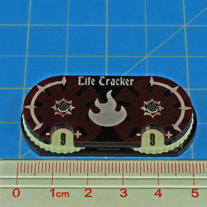 LITKO Life Tracker Dial Compatible with MtG, Translucent Red - LITKO Game Accessories
